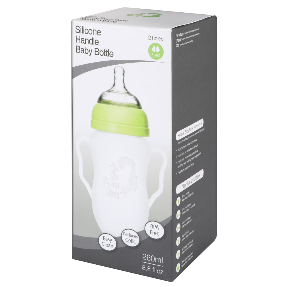 Silicone Baby Bottle with Handle 8.8fl oz