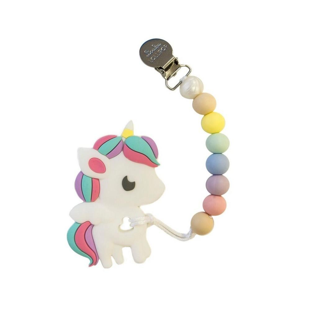 Rainbow Unicorn Teether - Cotton Candy