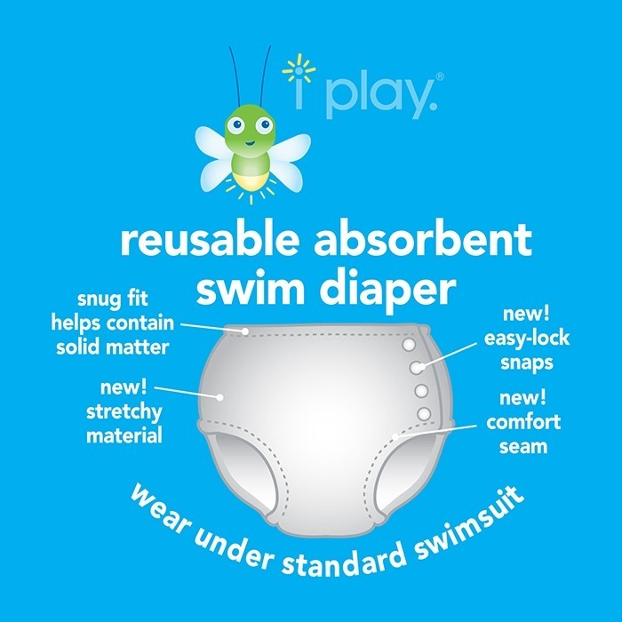 Snap Reusable Absorbent Swimsuit Diaper-Navy Octopus