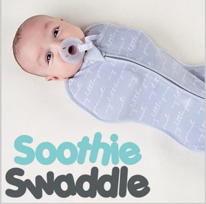 Soothie Swaddle and Nature-Soothe Pacifier system - NB