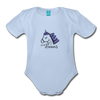 Unicorn (purple) Organic Short Sleeve Baby Bodysuit