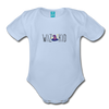Wiz Kid (light) Organic Short Sleeve Baby Bodysuit