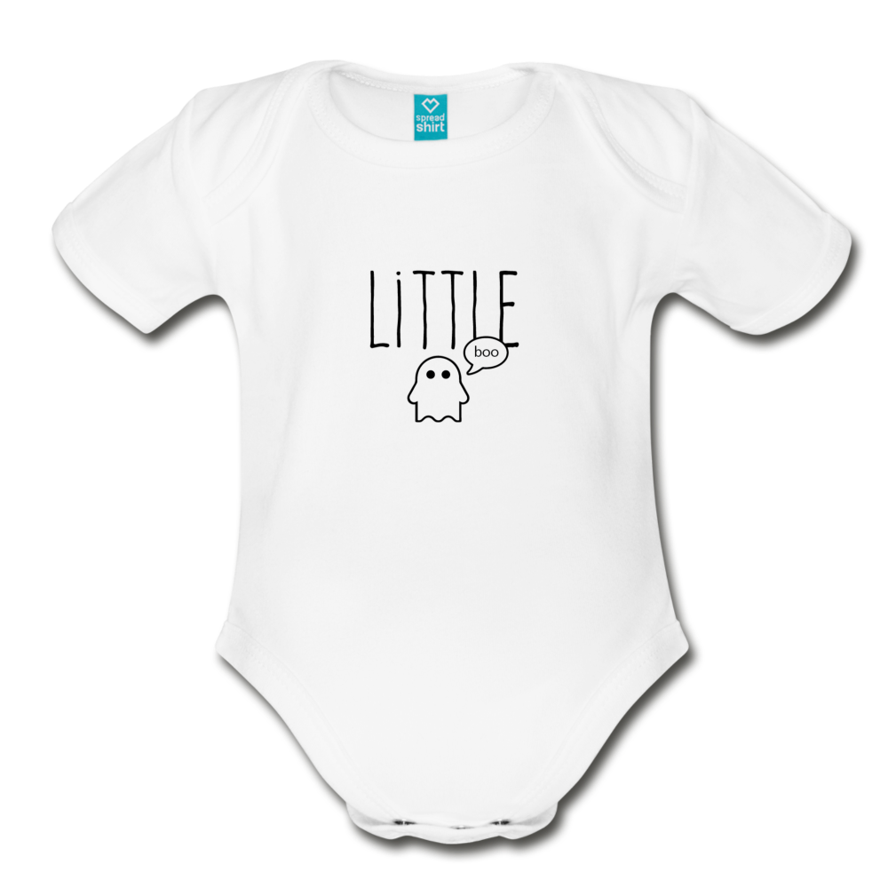 Little Boo Organic Short Sleeve Baby Bodysuit - white