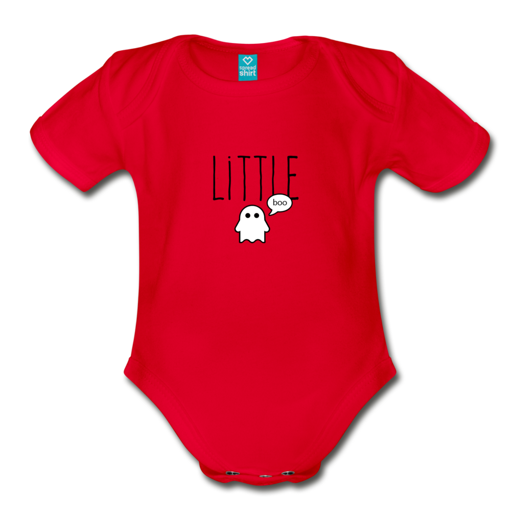 Little Boo Organic Short Sleeve Baby Bodysuit - red