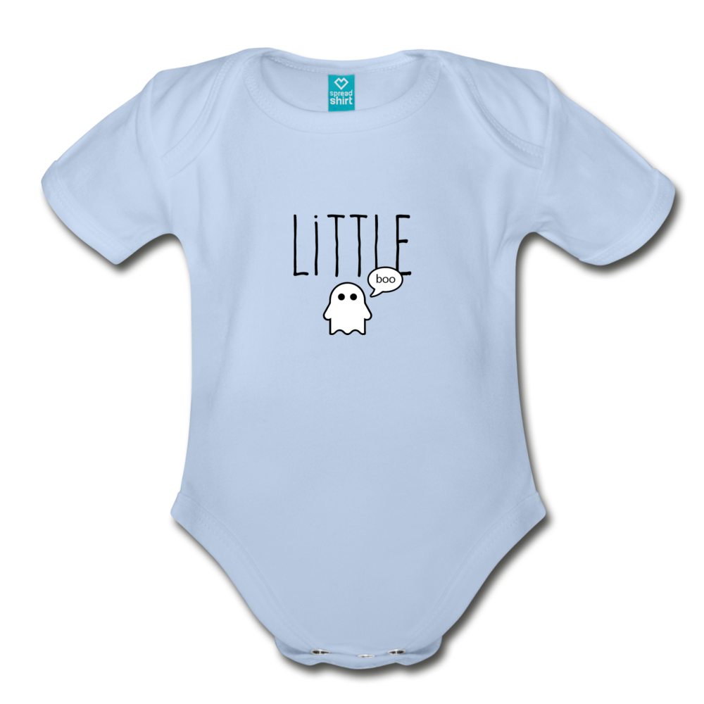 Little Boo Organic Short Sleeve Baby Bodysuit - sky