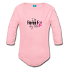 Fierce For Gigi Breast Cancer Awareness Organic Long Sleeve Baby Bodysuit