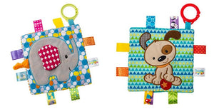 Taggies Crinkle Me Toy 2 Pc. Set - Elephant & Brother Puppy