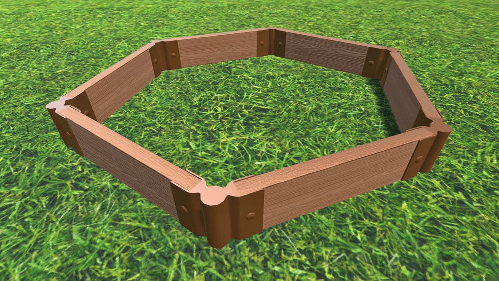 Tool-Free 'Fort Jefferson' Hexagon Raised Garden Bed - 4' x 4'