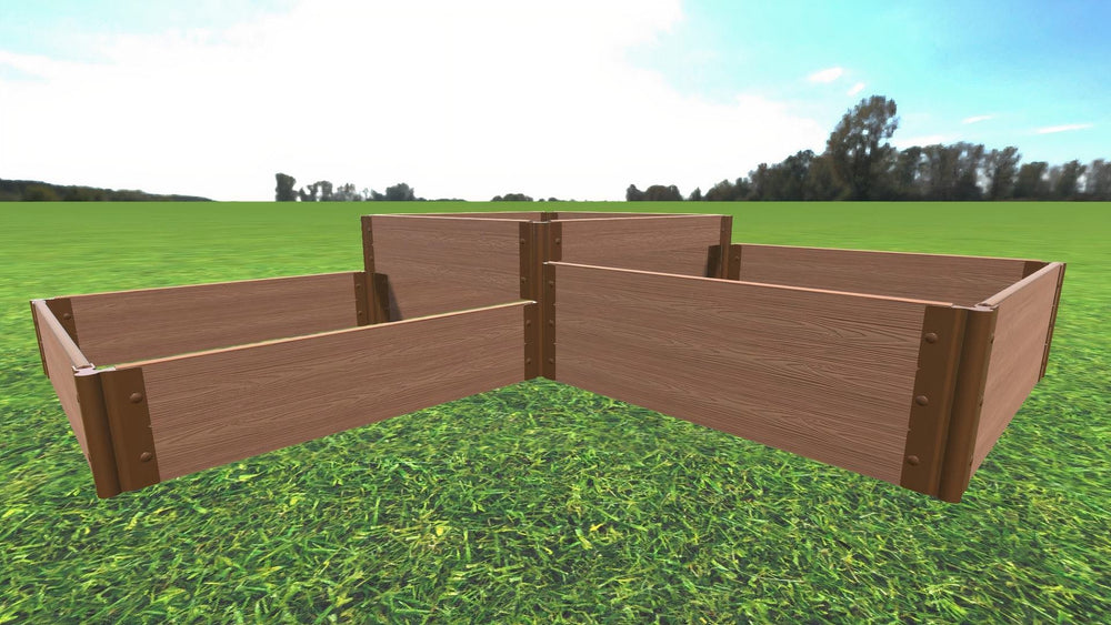 Tool-Free 'Fort Knox' Straight Corner Raised Garden Bed - 8' x 8'