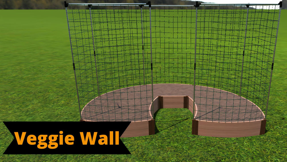 Tool-Free 'Lucky Horseshoe' Walk-In Curved Raised Garden Bed - 6' x 9'