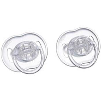 Translucent Infant Pacifiers 0-6m - Colors May Vary