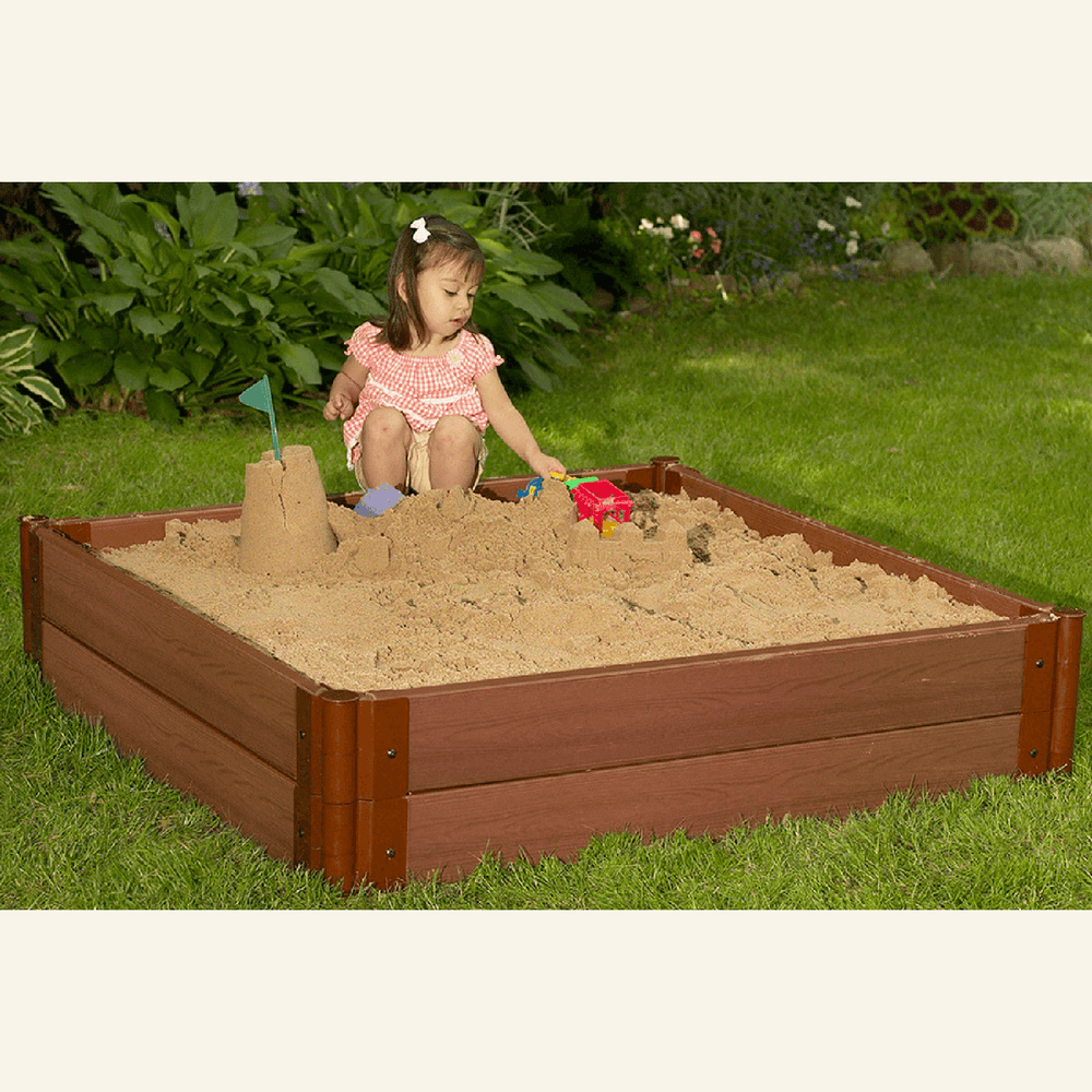 Two Inch Series 4ft. x 4ft. x 11in. Composite Square Sandbox Kit