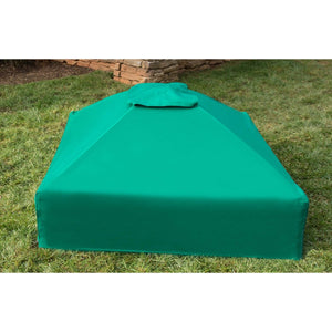 Two Inch Series 4ft. x 4ft. x  5.5in. Composite Square Sandbox Kit with Canopy/Cover