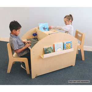 Two Student Adjustable Library Desk