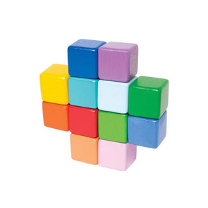 Wood Baby Cubes Colored