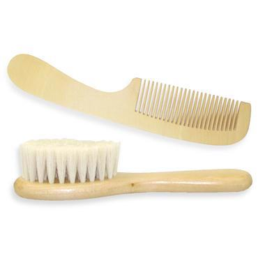 Wood Brush & Comb Set