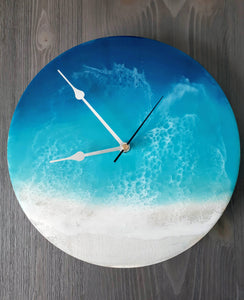 "10"" Beach resin wall clock"