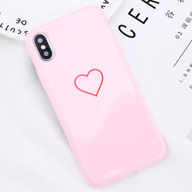 ed25a5cec7 ... Love Heart Smile Case For iPhone 7 8 Plus Couple Letter Phone Cases For iPhone  X ...