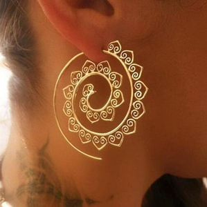 02ab561c5 Spiral Earrings (gold or silver)