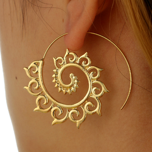 dffe4e790 Spiral Tribal Earrings (available in gold or silver) – Shop Boho Tribe