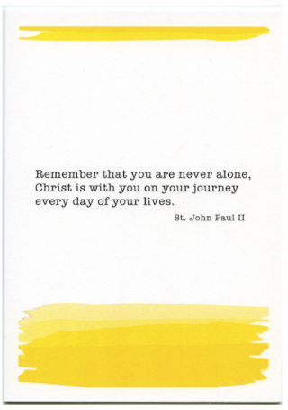 You Are Never Alone (Yellow)