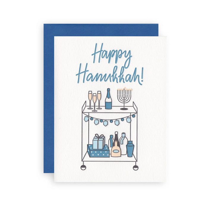 Hanukkah Bar Cart
