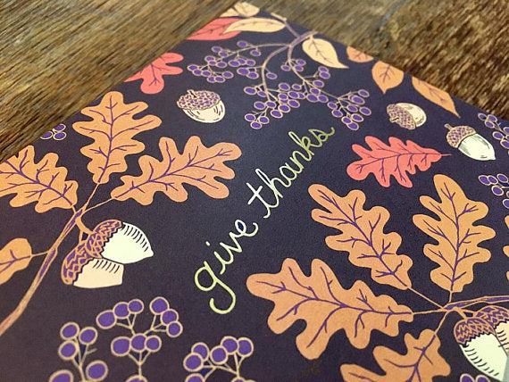 Give Thanks (Gold Foil)