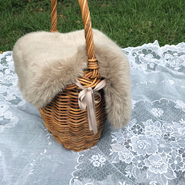 picnic and fur basket