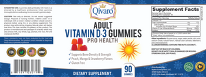 QAG05 - 成人素食維他命D軟糖 | VITAMIN D-3 GUMMIES PRO HEALTH by QIVARO