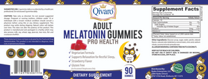 QAG06 - 成人素食軟糖睡眠寶 | ADULT MELATONIN GUMMIES PRO HEALTH by QIVARO