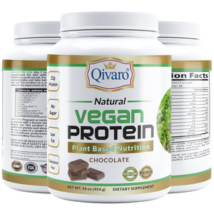QVP01/02A - 素食蛋白粉 | VEGAN PROTEIN PLANT BASED NUTRITION (VANILLA/CHOCOLATE) By QIVARO