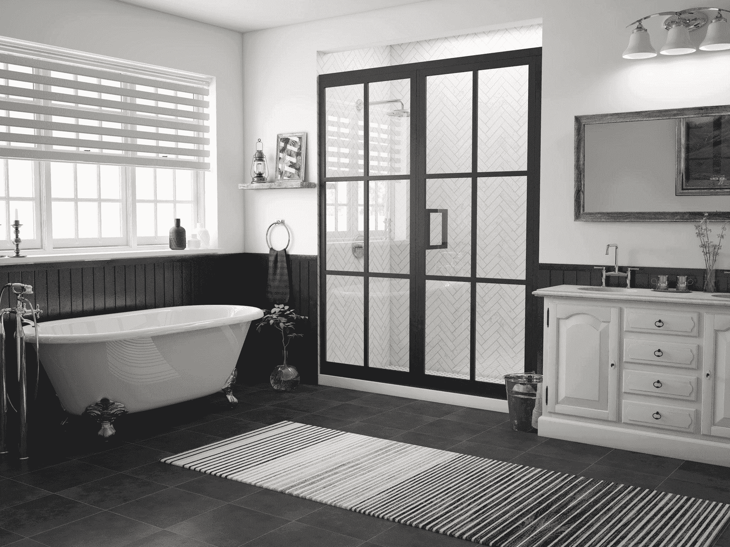 GRIDSCAPE BLACK FRAME SHOWER DOOR COLLECTION