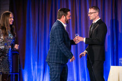 ACCEPTING THE 2019 HOSPITALITY DESIGN AWARD IN BATH