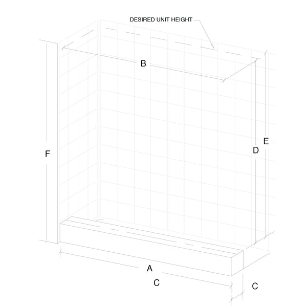 HOW TO MEASURE ALCOVE SHOWER OPENING