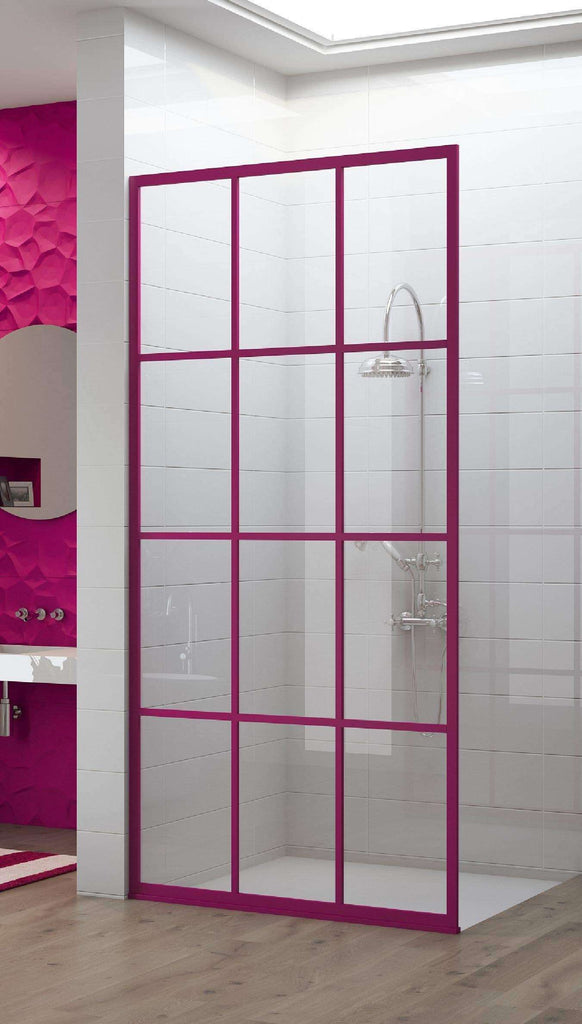 Gridscape GS1 Colorize Shower Screen in Fandango with SatinDeco Glass