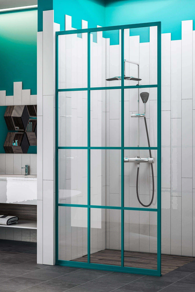 Gridscape GS1 Colorize Shower Screen in Keppel with SatinDeco Glass