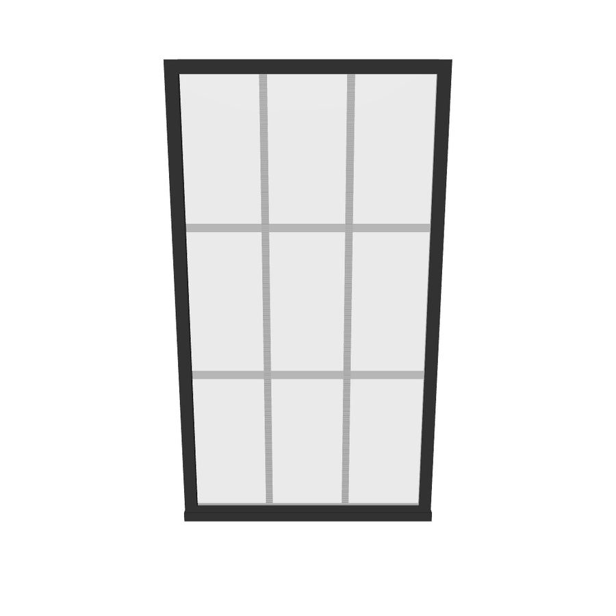 Gridscape GS1 Shower Screen For Tub in Black with Clear Glass