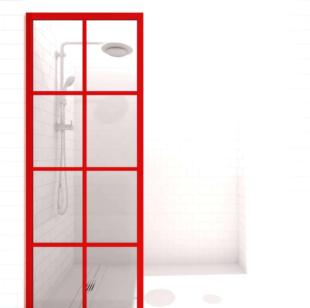 Gridscape GS1 Colorize Shower Screen in Matchtip with Clear Glass