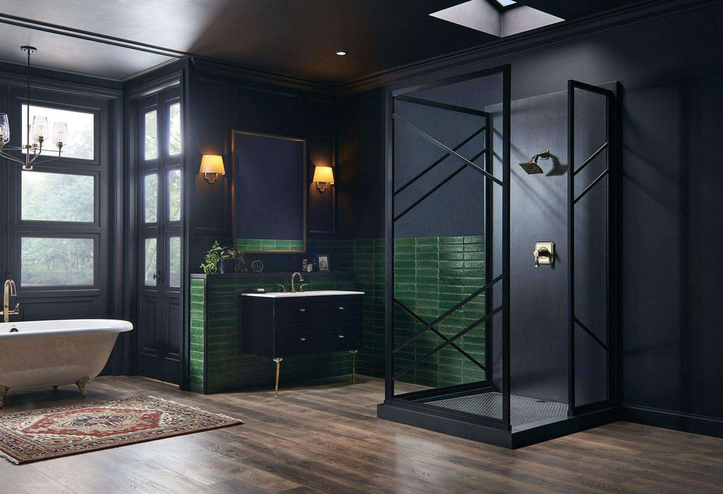 Coastal Shower Doors - Gridscape Series Paradigm Shower Enclosure