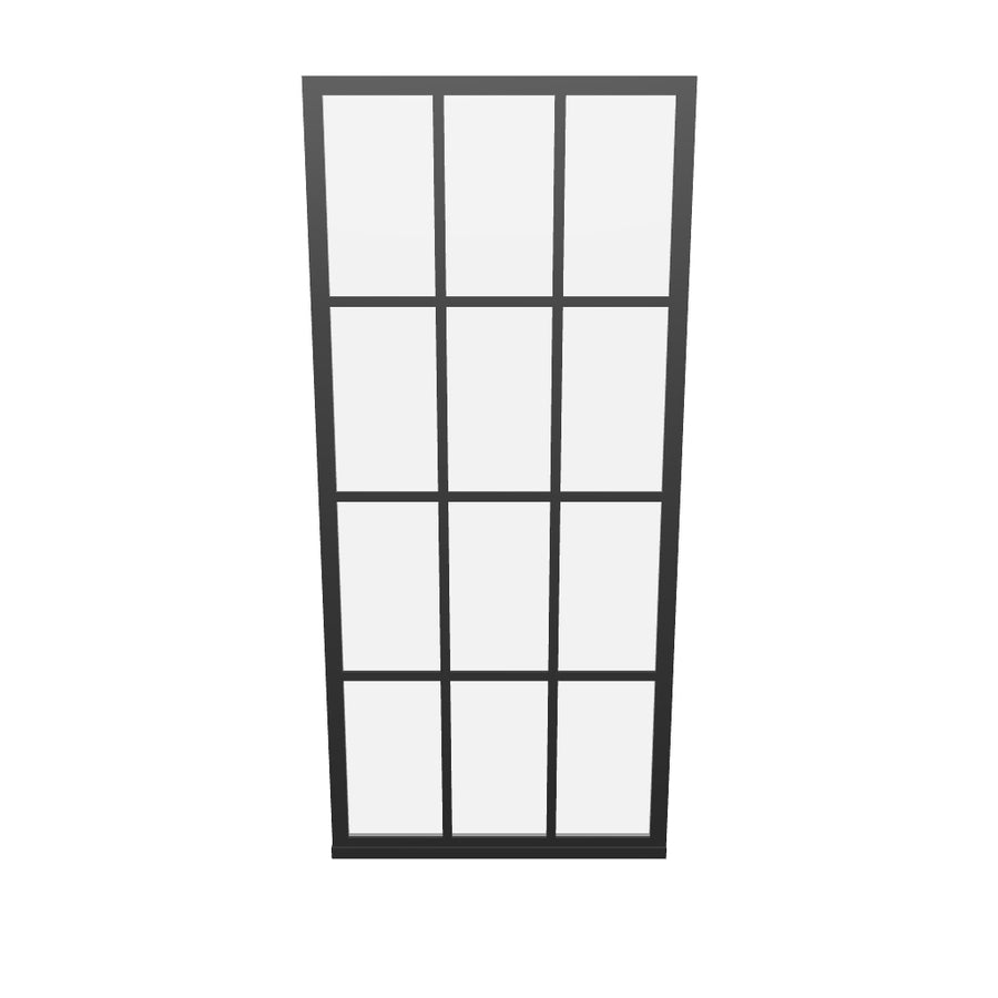 AR Design View-  Use your smartphone cameral to interact with a life-like 3D Model of Coastal's Black Frame Gridscape Fixed Panel Shower Panel.   Visualize your design in augmented Reality