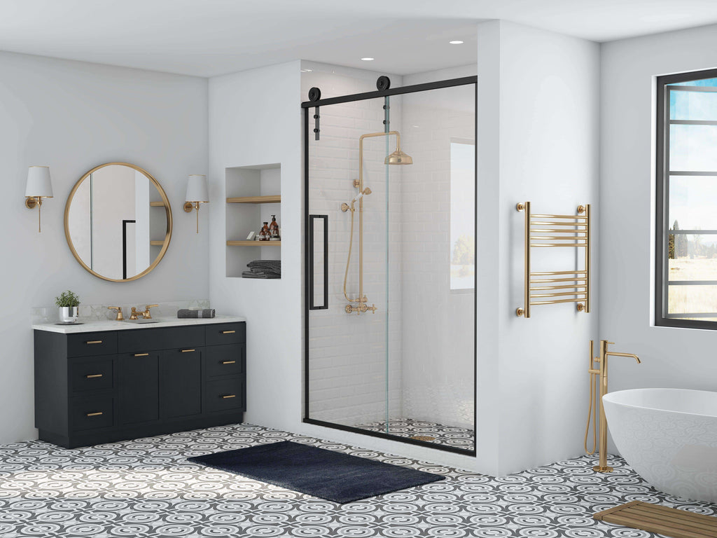 Gridscape Gsf Eclipse Frameless Sliding Barn Door Shower