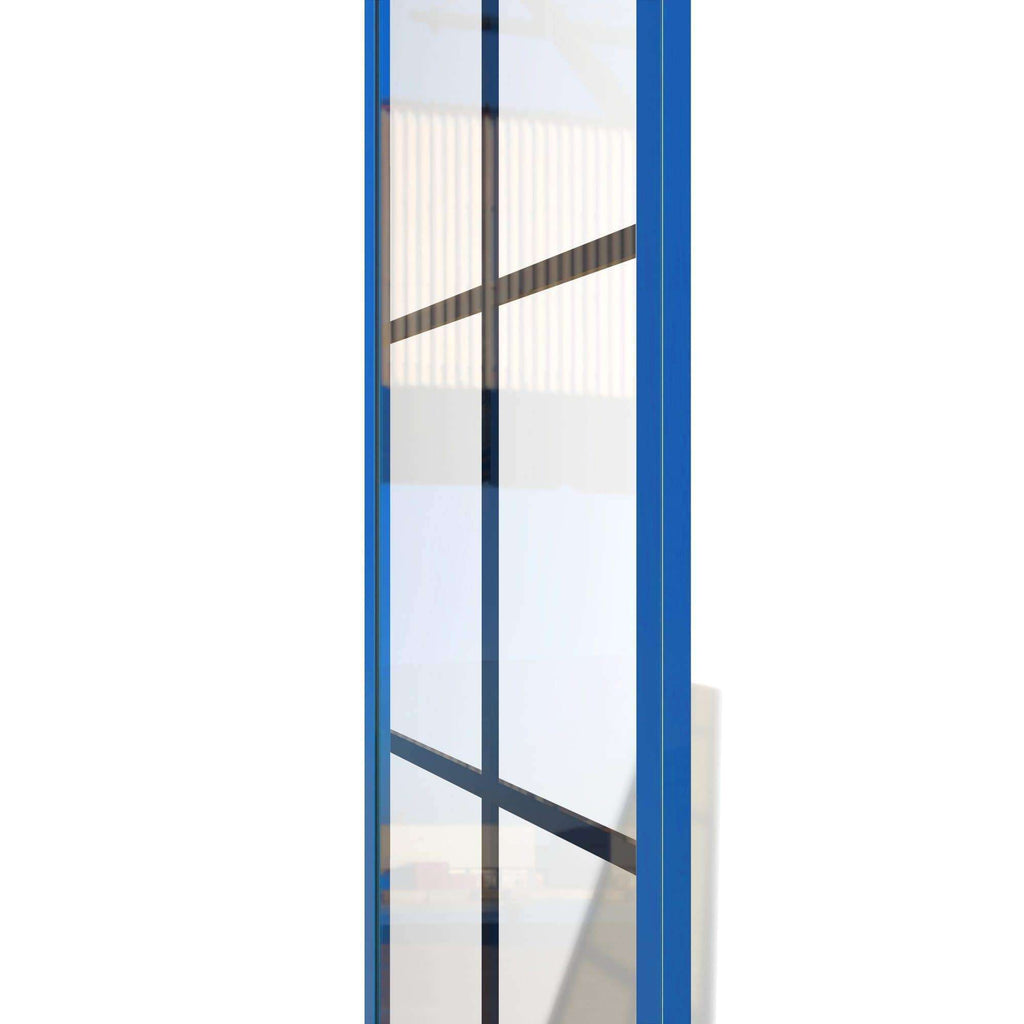 Gridscape GS1 Colorize Shower Screen in Sapphire with SatinDeco Glass