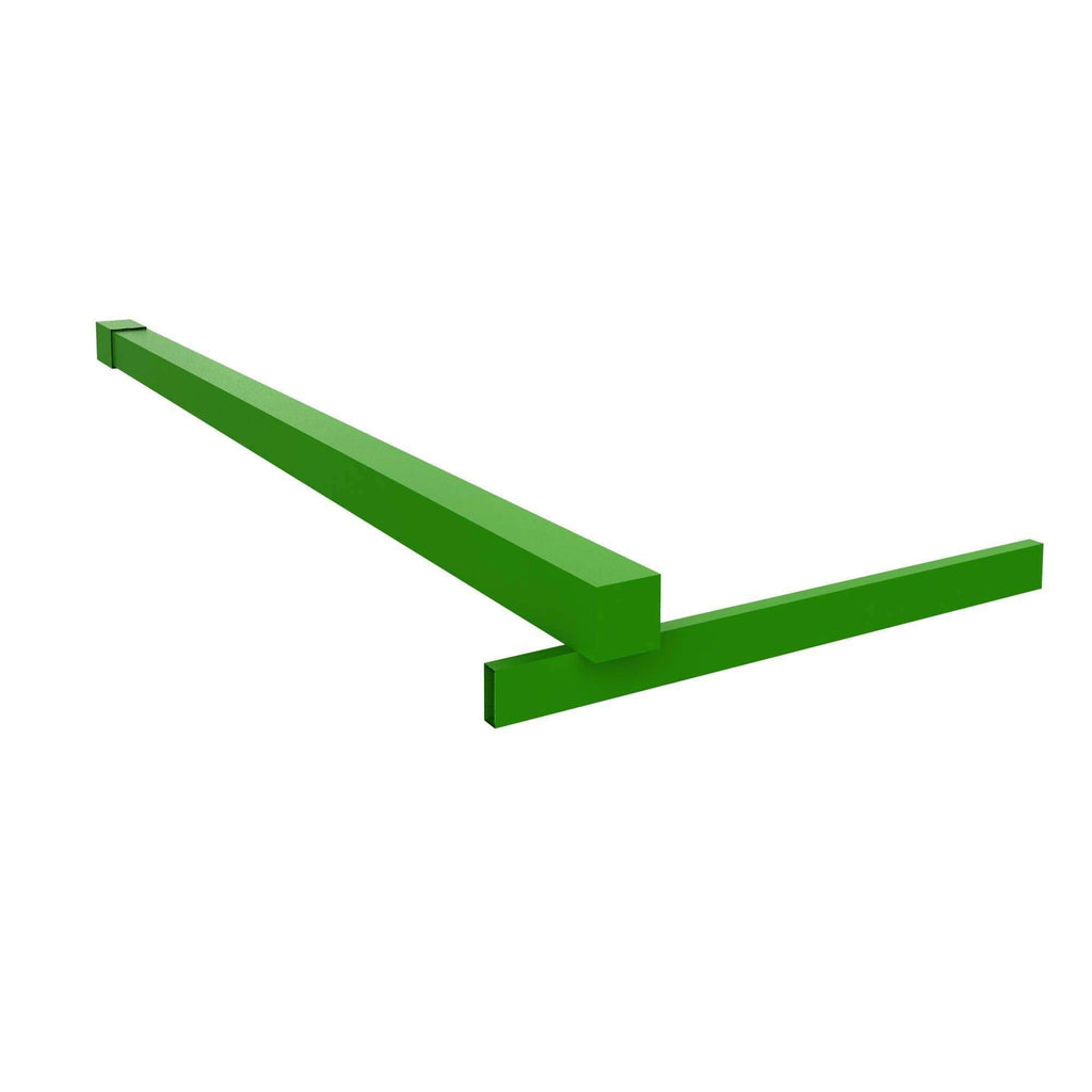 Fixed Shower Glass Panel Steel Stabilizer Bar in Forevergreen For Gridscape Shower Screens