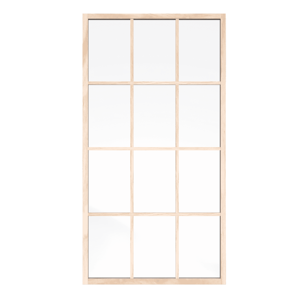 Gridscape GS1 Insiders Shower Screen in Berk-Oak with Clear Glass