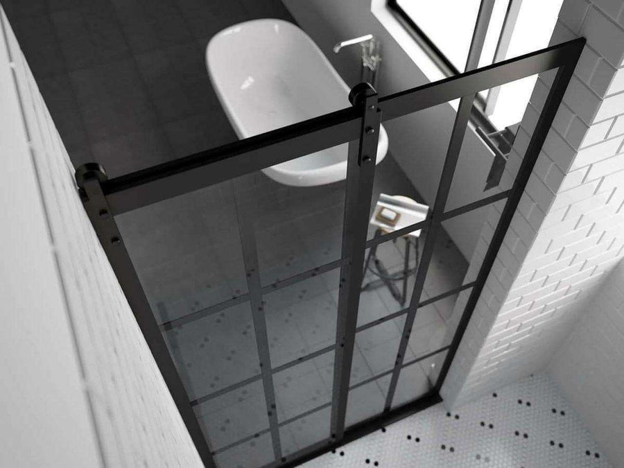 Gridscape Eclipse Factory Window Sliding Doors for Showers