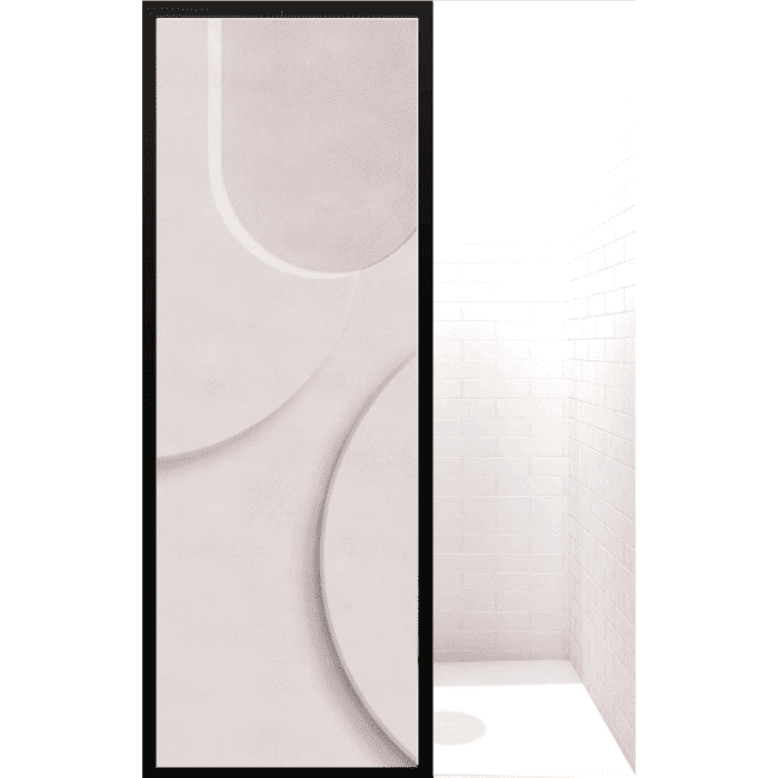 Gridscape GS3 Colorize Shower Screen in ForeverGreen with Clear Glass