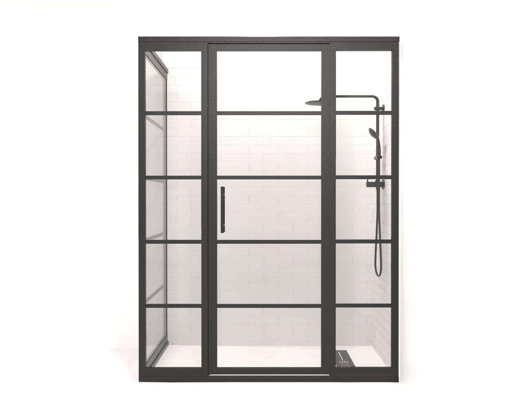 Gridscape GS2 4-Panel Corner Shower Door - Front View