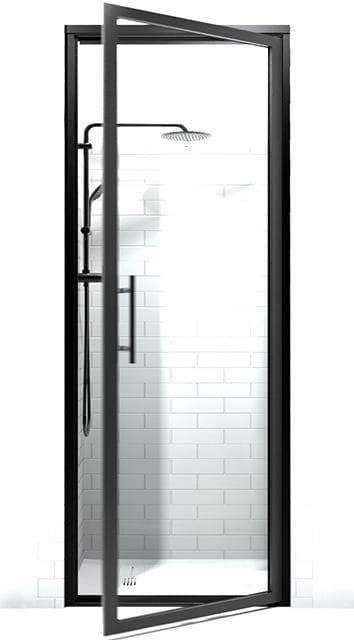 Black Frame Shower Doors | Gridscape GS3 | Modern | Clear Glass | Coastal Shower Doors