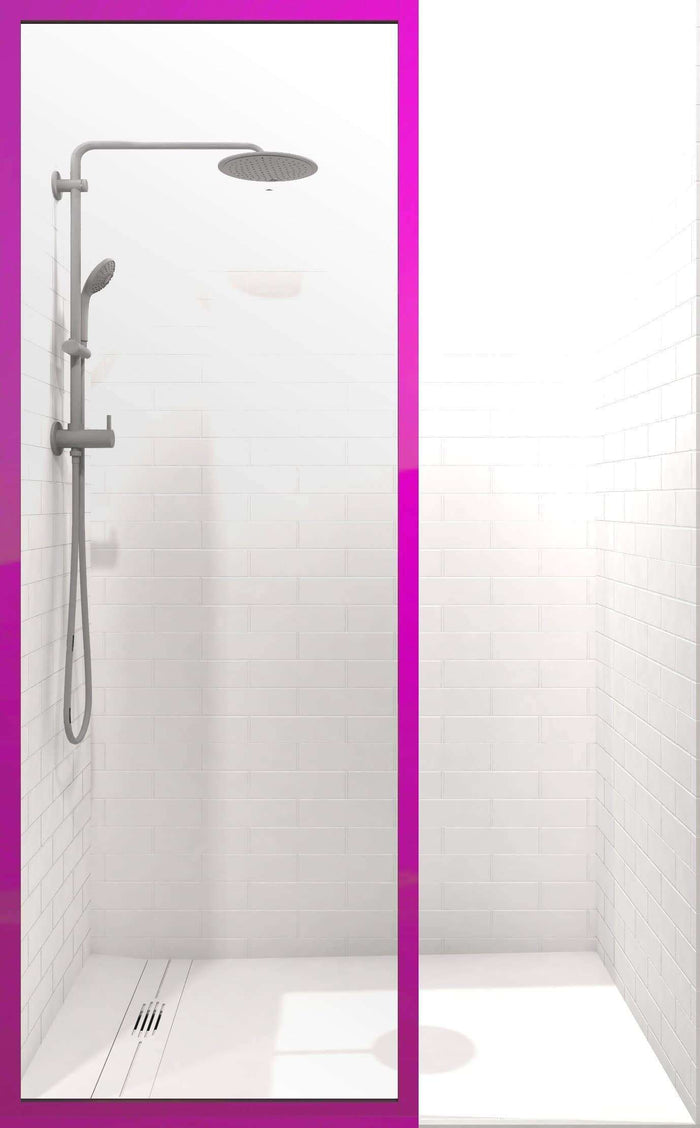 Gridscape GS3 Colorize Shower Screen in Fandango with Clear Glass