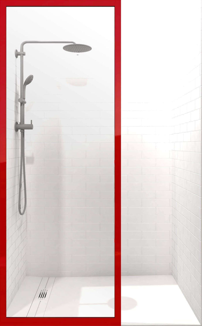 Gridscape GS3 Colorize Shower Screen in Matchtip with Clear Glass